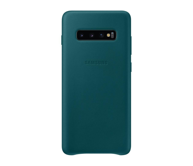 Samsung Leather Cover do Galaxy S10+ zielony - 478405 - zdjęcie