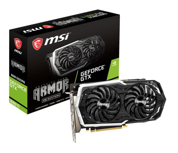 MSI GeForce GTX 1660 Ti Armor OC 6GB GDDR6 - 480235 - zdjęcie