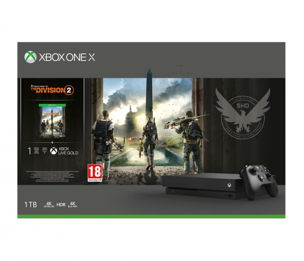 Microsoft Xbox One X 1TB+The Division2+GoW4+FIFA19+EA Access - 481287 - zdjęcie 9