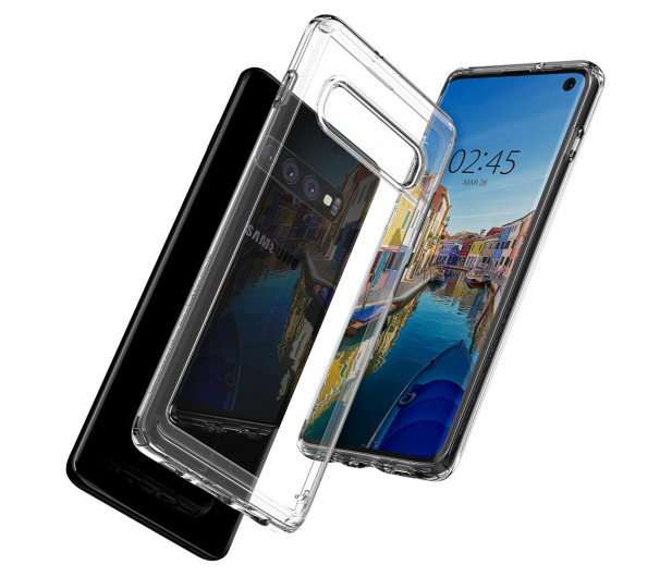 Spigen Crystal Hybrid do Samsung Galaxy S10 Clear  - 479290 - zdjęcie 3