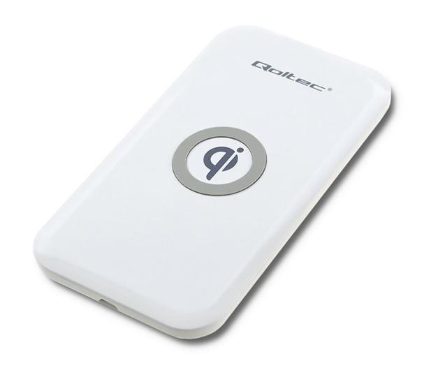 Qoltec Indukcyjna Quick charge 10W (biały) - 480648 - zdjęcie