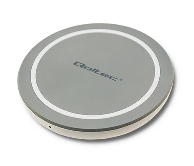 Qoltec Indukcyjna RING Quick Charge 10W (szary)  - 480651 - zdjęcie