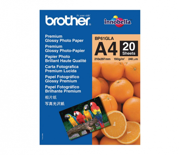 Brother Papier fot. Premium Glossy 20ark A4 - 476063 - zdjęcie