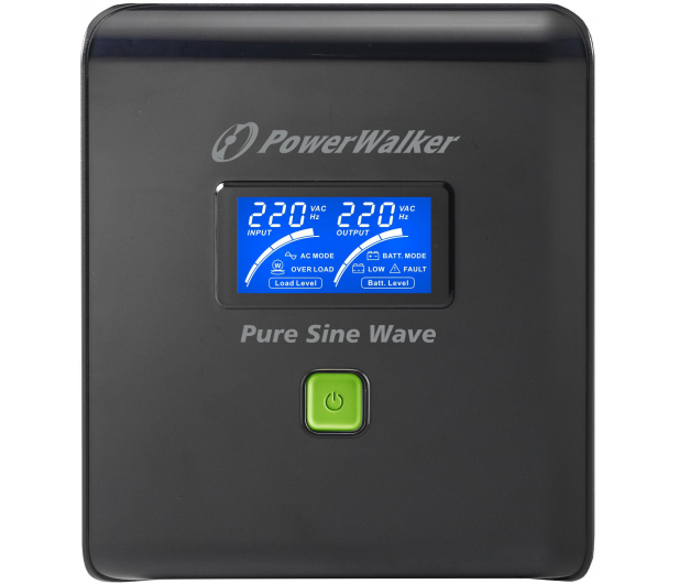 Power Walker VI 1000 PSW (1000VA/700W, 4xFR, AVR, USB, LCD) - 474119 - zdjęcie 2