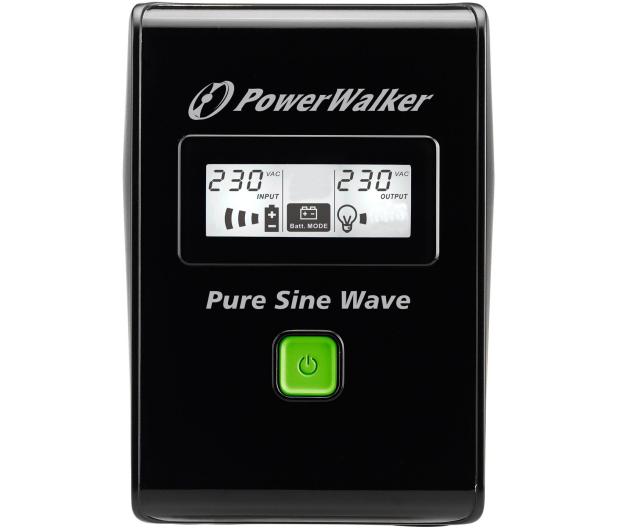 Power Walker VI 800 SW (800VA/480W, 2xSchuko, USB LCD, AVR) - 471427 - zdjęcie 2