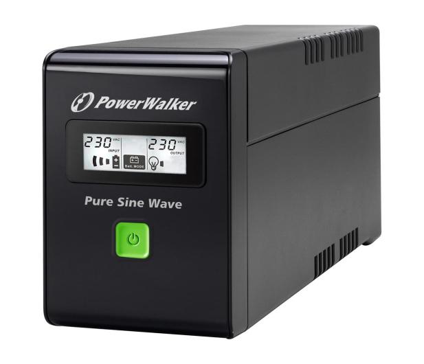 Power Walker VI 800 SW (800VA/480W, 2xSchuko, USB LCD, AVR) - 471427 - zdjęcie