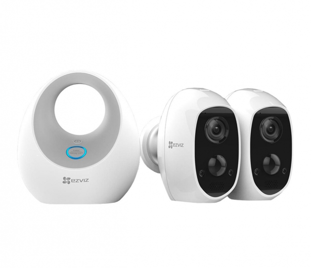 EZVIZ Duo Pack FullHD WiFI IR (2szt + stacja) - 484256 - zdjęcie