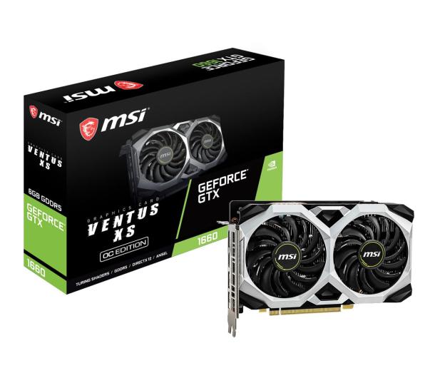 MSI GeForce GTX 1660 VENTUS XS OC 6GB GDDR5 - 485314 - zdjęcie