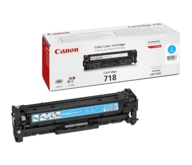 Canon CRG-718C cyan 2900str. - 79288 - zdjęcie