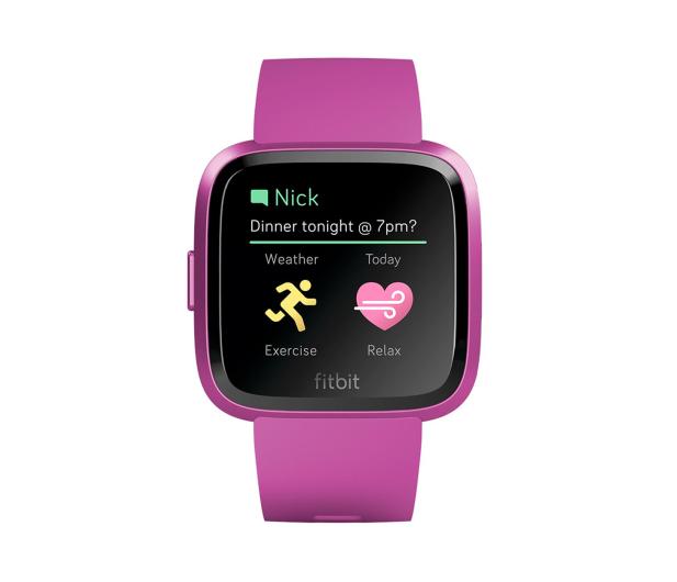 Fitbit Versa Lite Purpurowa - 485347 - zdjęcie 2