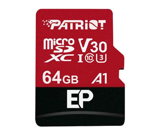 Patriot 64GB EP microSDXC 100/80MB (odczyt/zapis) - 485619 - zdjęcie