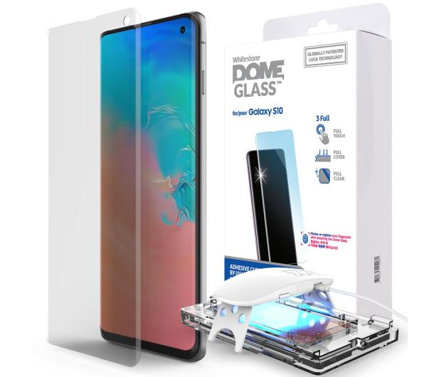 Whitestone Szkło Hartowane Dome Glass + UV do Galaxy S10 - 485178 - zdjęcie