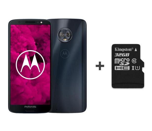Motorola Moto G6 3/32GB Dual SIM granatowy + etui + 32GB - 483085 - zdjęcie
