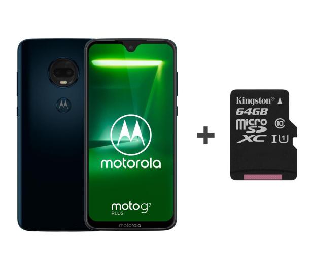 Motorola Moto G7 Plus 4/64GB DS granatowy + etui + 64GB - 483117 - zdjęcie