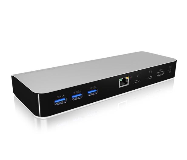 ICY BOX Stacja dokująca 3xUSB 3.0, HDMI, RJ-45, Czytnik SD - 485728 - zdjęcie