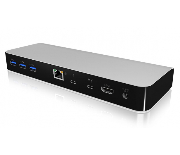 ICY BOX Stacja dokująca 3xUSB 3.0, HDMI, RJ-45, Czytnik SD - 485728 - zdjęcie 3