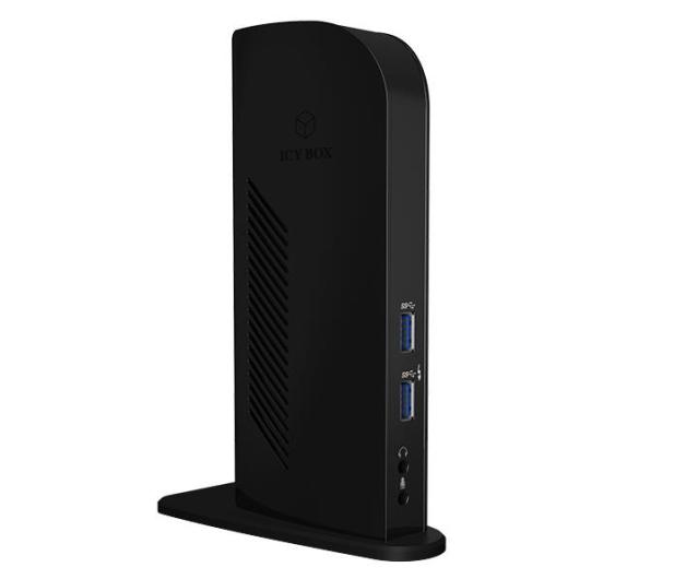 ICY BOX Stacja dokująca USB - 6xUSB, 2xDP, RJ-45, Audio - 485726 - zdjęcie 3