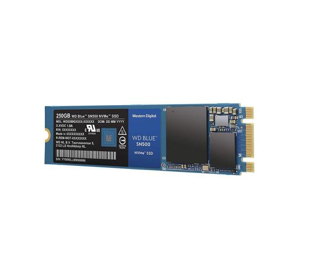 WD 250GB M.2 2280 PCI-E NVMe SSD Blue SN500 - 486495 - zdjęcie 2
