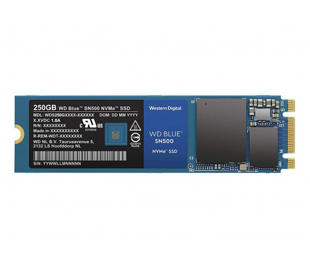 WD 250GB M.2 2280 PCI-E NVMe SSD Blue SN500 - 486495 - zdjęcie