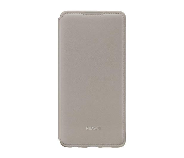 Huawei Wallet Cover do Huawei P30 khaki  - 484512 - zdjęcie