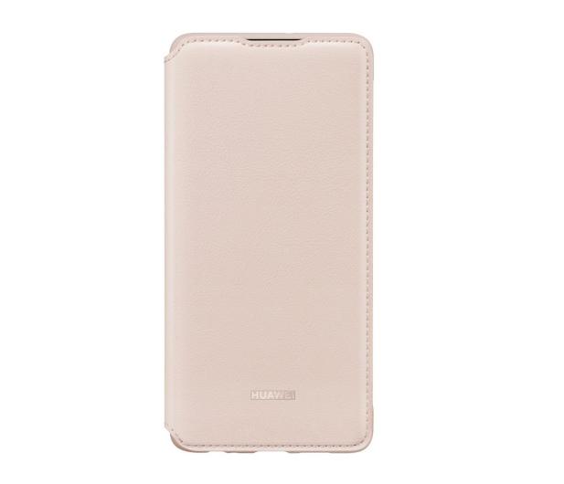 Huawei Wallet Cover do Huawei P30 różowy  - 484511 - zdjęcie