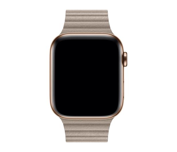 Apple Opaska Skórzana do Apple Watch piaskowiec - 488016 - zdjęcie 2