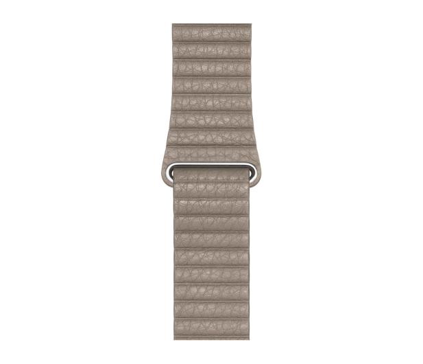 Apple Opaska Skórzana do Apple Watch piaskowiec - 488016 - zdjęcie