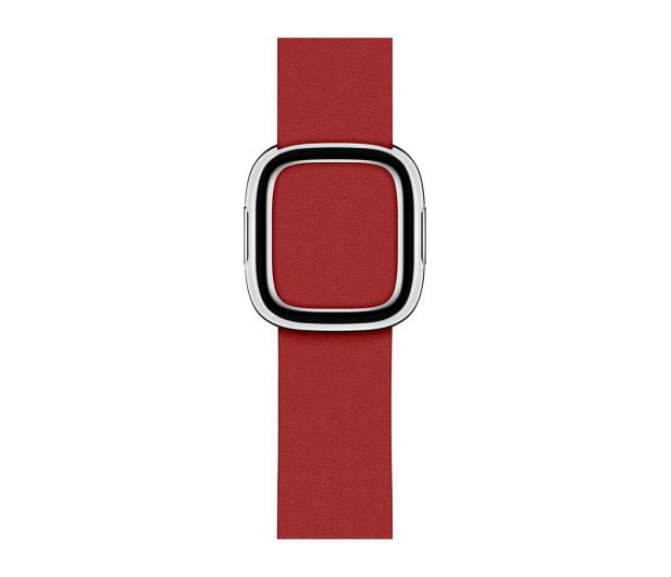 Apple Pasek z Klamrą Nowoczesną do Apple Watch rubinowy - 487898 - zdjęcie