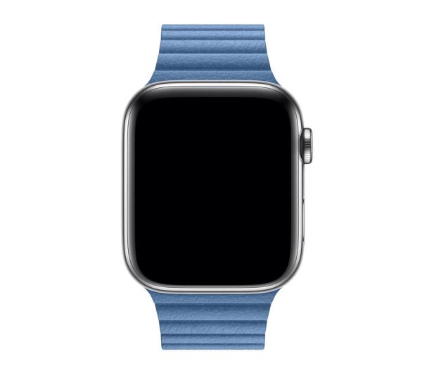 Apple  Opaska skórzana niebieska do koperty 44 mm L - 487997 - zdjęcie 2