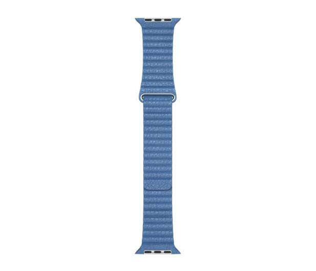 Apple Opaska skórzana niebieska do koperty 44 mm M - 487996 - zdjęcie 3