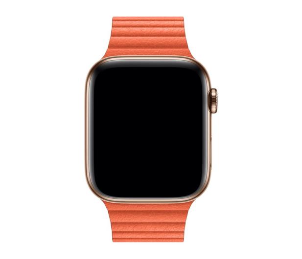 Apple Opaska skórzana pomarańczowa do koperty 44 mm L - 487995 - zdjęcie 2