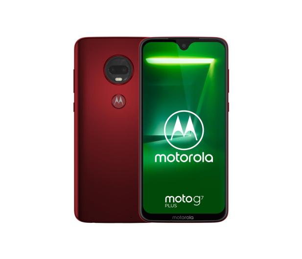 Motorola Moto G7 Plus 4/64GB Dual SIM czerwony + etui - 488348 - zdjęcie