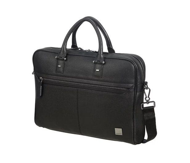 "Samsonite Senzil 15,6"" Leather Black - 489093 - zdjęcie"
