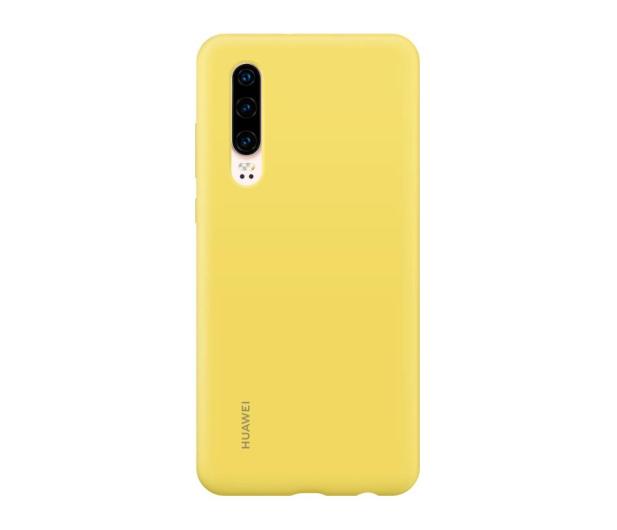 Huawei Silicone Case do Huawei P30 żółty - 484500 - zdjęcie