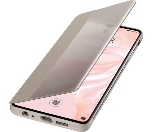 Huawei Smart View Flip Cover do Huawei P30 khaki  - 484509 - zdjęcie 3
