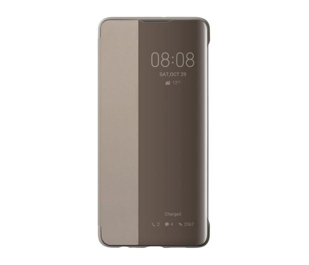 Huawei Smart View Flip Cover do Huawei P30 khaki  - 484509 - zdjęcie