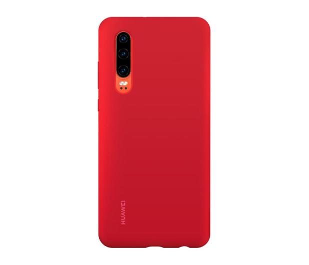 Huawei Silicone Case do Huawei P30 czerwony - 484498 - zdjęcie