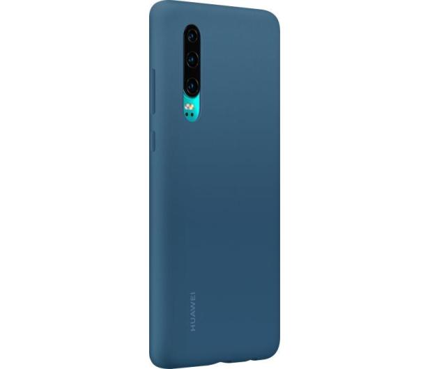 Huawei Silicone Case do Huawei P30 niebieski - 484499 - zdjęcie 3
