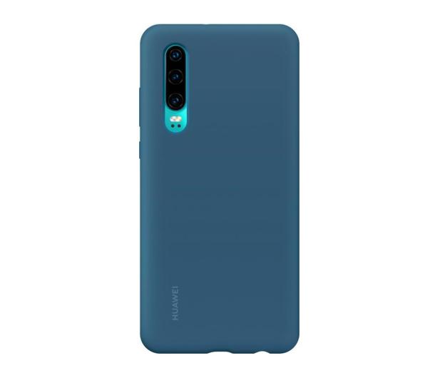 Huawei Silicone Case do Huawei P30 niebieski - 484499 - zdjęcie