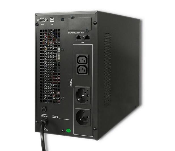Qoltec Monolith (3000VA/2400W, PL, Schuko, IEC, USB, LCD) - 485356 - zdjęcie 3