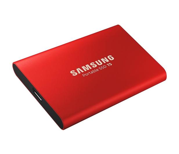 Samsung Portable SSD T5 1TB Red USB 3.1  - 490286 - zdjęcie 4