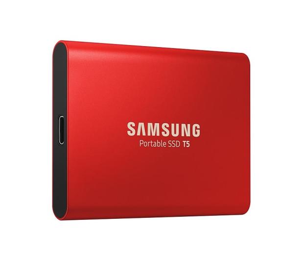 Samsung Portable SSD T5 1TB Red USB 3.1  - 490286 - zdjęcie 3