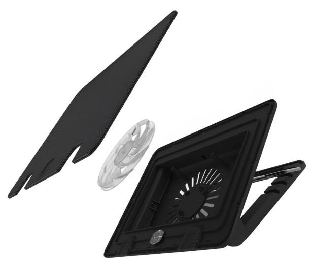 """Cooler Master Chłodząca NotePal  Ergostand IV (do 17"""", czarna) - 491813 - zdjęcie 4"""