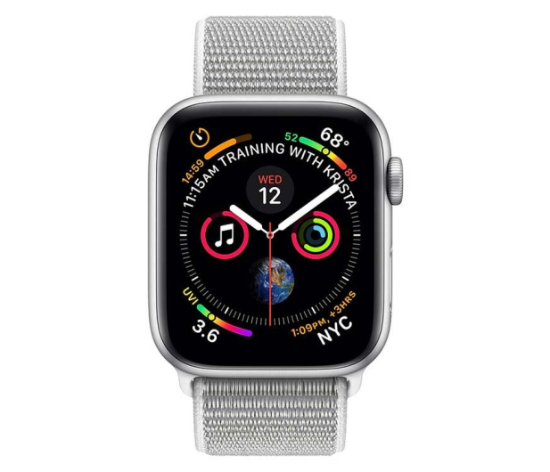 Apple Watch 4 40/SilverAluminium/SeashellSport Loop LTE - 491821 - zdjęcie 2