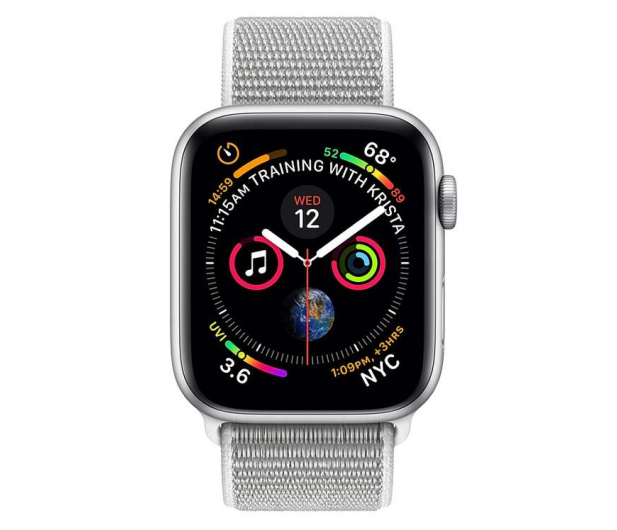 Apple Watch 4 44/Silver Aluminium/SeashellSport Loop LTE - 491852 - zdjęcie 2