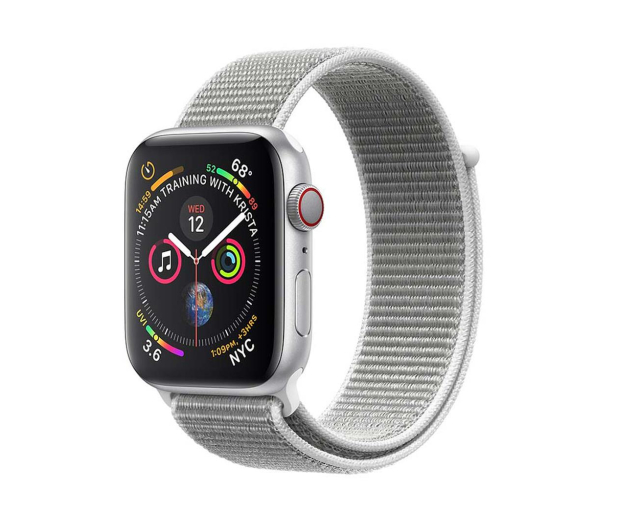 Apple Watch 4 44/Silver Aluminium/SeashellSport Loop LTE - 491852 - zdjęcie
