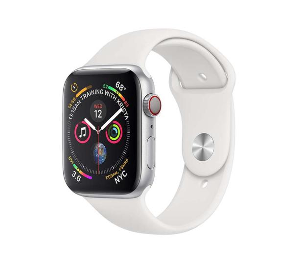Apple Watch 4 40/Silver Aluminium/White Sport LTE - 491822 - zdjęcie