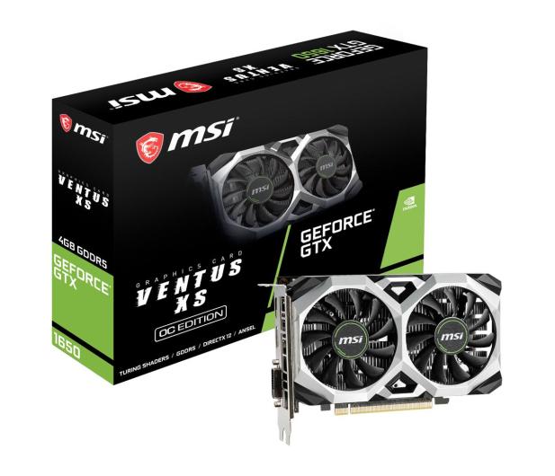 MSI GeForce GTX 1650 VENTUS XS OC 4GB GDDR5 - 492791 - zdjęcie
