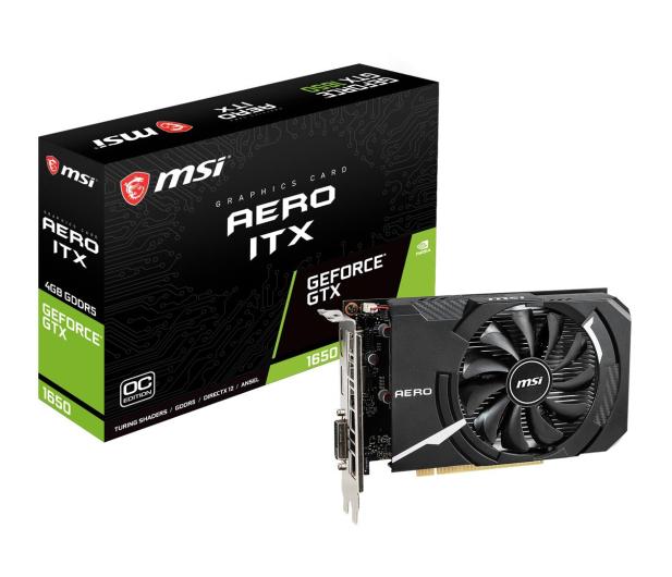 MSI GeForce GTX 1650 AERO ITX OC 4GB GDDR5 - 492792 - zdjęcie