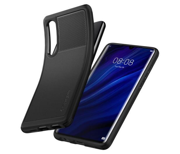 Spigen Rugged Armor do Huawei P30 Black  - 489430 - zdjęcie 2